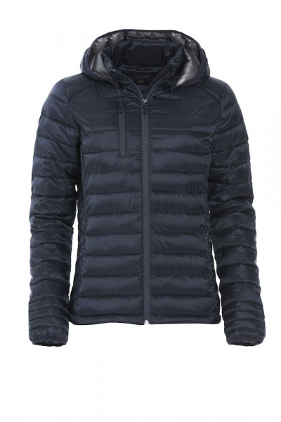 quilted jacket with down-like padding, women