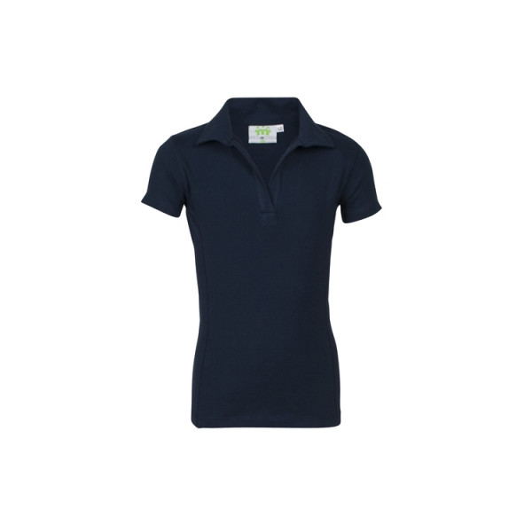 Stretchpoloshirt, without buttons, Girls